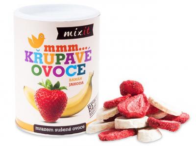 Mixít - Banán Jahoda - Chrumkavé ovocie