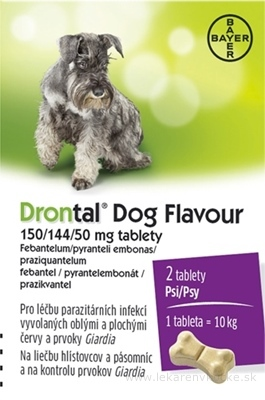 Drontal Dog Flavour 150/144/50 mg tablety tbl 1x2 ks