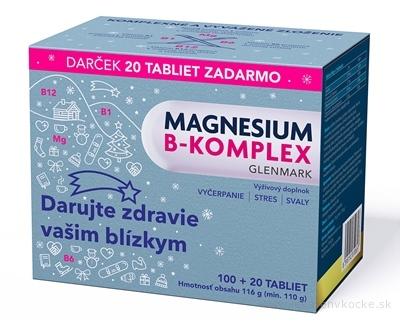 Magnesium B-komplex Glenmark (Vianočné balenie) tbl 100+20 zadarmo (120 ks)