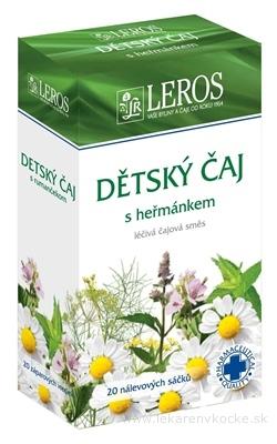 LEROS Detský čaj s rumančekom záparové vrecúška 20x1,5 g (30 g)