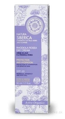 NATURA SIBERICA RHODIOLA ROSEA Day Cream denný krém ochranný, hydratačný, z rozchodnice ružovej, na citlivú pleť 1x50 ml