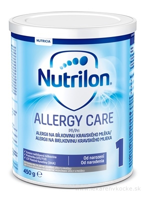Nutrilon 1 ALLERGY CARE mliečna výživa v prášku (od narodenia) 1x450 g