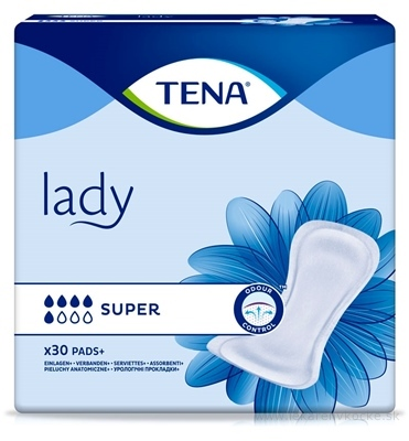 TENA LADY SUPER absorpčné vložky 1x30 ks