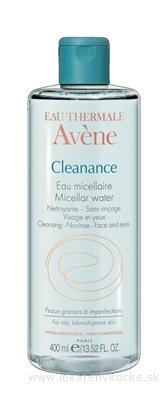 AVENE CLEANANCE EAU MICELLAIRE micelárna voda pre mastnú a aknóznu pleť 1x400 ml