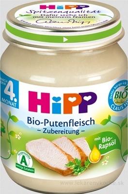 HiPP Príkrm BIO Morčacie mäso - pyré mäso (od ukončeného 4. mesiaca)(Bio-Putenfleisch-püriert) 1x125 g
