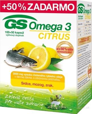 GS Omega 3 CITRUS 2015 cps 100+50 (50% zadarmo) (150 ks)