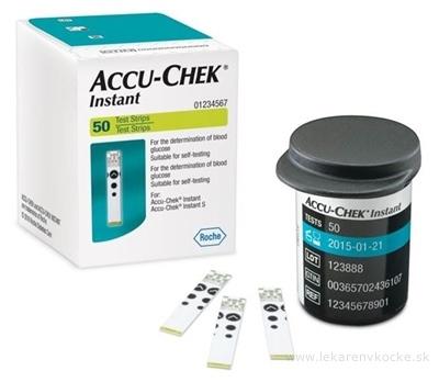 ACCU-CHEK Instant 50 testovacie prúžky do glukomera 1x50 ks