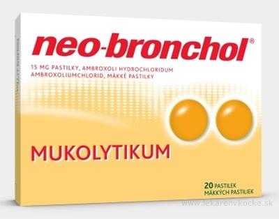 Neo-bronchol 15 mg mäkké pastilky pas orm (blis.PVC/Al) 1x20 ks