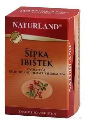 NATURLAND ŠÍPKA IBIŠTEK ovocný čaj, nálevové vrecúška 20x3 g (60 g)