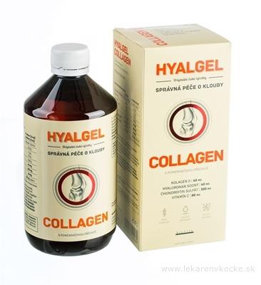 HYALGEL COLLAGEN tekutý prípravok s pomarančovou príchuťou 1x500 ml