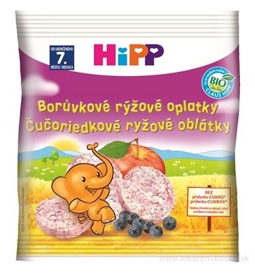 HiPP BIO OBLÁTKY Čučoriedkové rýžové (od ukonč. 7. mesiaca) 1x30 g