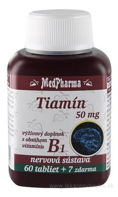 MedPharma TIAMÍN 50 mg (vitamín B1) tbl 60+7 zadarmo (67 ks)