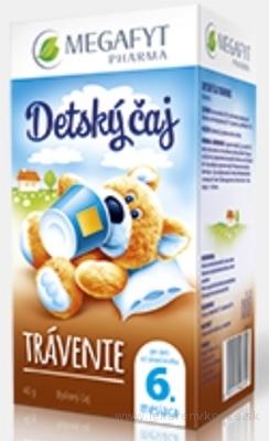 MEGAFYT Detský čaj TRÁVENIE inov.2015, bylinný čaj 20x2 g (40 g)