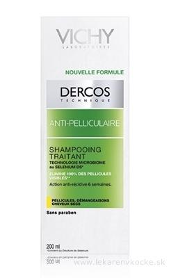 VICHY DERCOS ANTI-PELLICULAIRE Šampón proti suchým lupinám, suché vlasy (M0362900) 1x200 ml