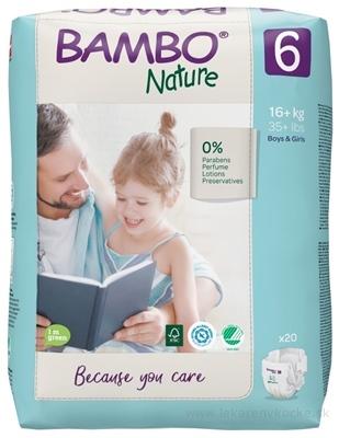 BAMBO 6 (16-30 kg) detské plienkové nohavičky, priedušné 1150 ml (inov.2020) 1x20 ks