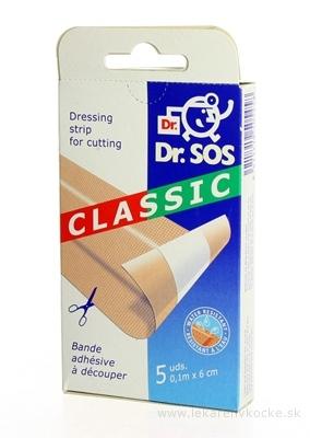 Dr. SOS Classic náplasť pásy vodeodolné (10cmx6cm) 1x5 ks