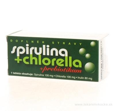 NATURVITA SPIRULINA + CHLORELLA + inulín tbl 1x90 ks