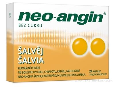 Neo-angin šalvia tvrdé pastilky pas ord (blis.PVC/PVDC/Al) 1x24 ks