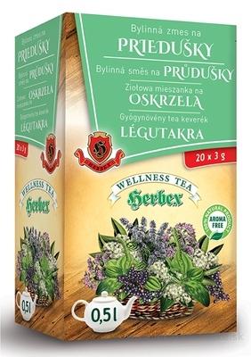 HERBEX Bylinná zmes na PRIEDUŠKY bylinný čaj 20x3 g (60 g)