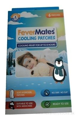 FeverMates cooling nálepkové chladivé náplasti pre deti 1x6 ks