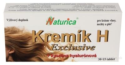Naturica KREMÍK H Exclusive + Kyselina hyalurónová tbl 30+15 (45 ks)