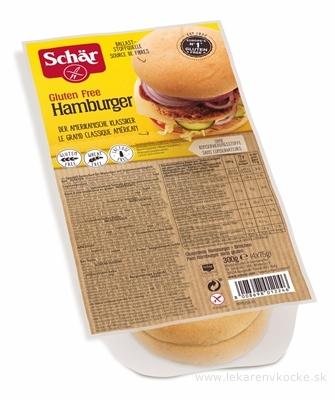 Schär ŽEMLE HAMBURGER bezgluténové (bezlepkové) 4x75 g (300 g)