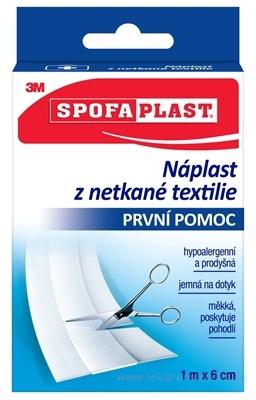 3M SPOFAPLAST č.854 Náplasť z netkanej textílie 6cm x 1m, jemná, pás, 1x1 ks