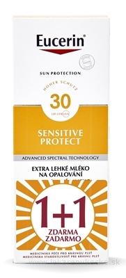 Eucerin SUN SENSITIVE PROTECT SPF 30 mlieko na opaľovanie, extra ľahké (1+1 zadarmo) 2x150 ml