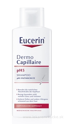 Eucerin DermoCapillaire pH5 šampón pre citlivú pokožku 1x250 ml