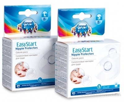 Canpol Babies EasyStart Premium Chrániče veľ. L prsných bradaviek, tvarované, silikón, 1x2 ks