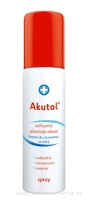 Akutol spray plastický obväz ochranný, sprej s hnacím plynom, 1x60 ml