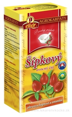 AGROKARPATY ŠÍPKOVÝ ČAJ ovocný čaj 20x3 g (60 g)