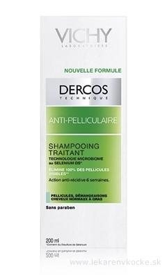 VICHY DERCOS ANTI-PELLICULAIRE Šampón proti mastným lupinám, normálne vlasy (M0363600) 1x200 ml