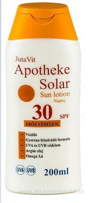 JutaVit Apotheke Solar Sun lotion 30 SPF opaľovacie mlieko 1x200 ml