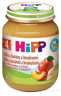 HiPP Príkrm 100% Ovocie Jablká, banány a broskyne nová receptúra 2016 (od ukonč. 4. mesiaca) 1x125 g