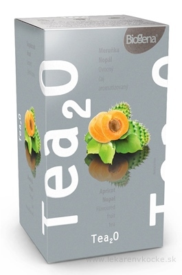 Biogena Tea2O Marhuľa & Nopál ovocný čaj 20x2,5 g (50 g)