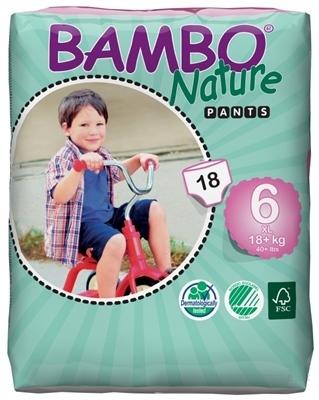 BAMBO PANTS XL-6 pre deti 18+ kg plienkové nohavičky navliekacie, savosť 1000 ml 1x18 ks