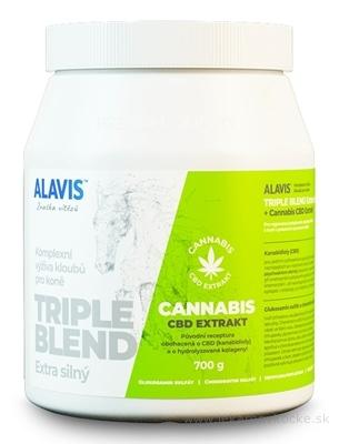 ALAVIS TRIPLE BLEND Extra silný + Cannabis CBD Extrakt, prášok 1x700 g