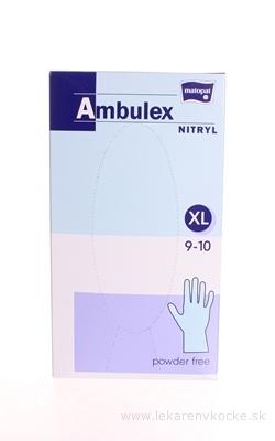 Ambulex rukavice NITRYLOVÉ veľ. XL, modré, nesterilné, nepúdrované, 1x100 ks