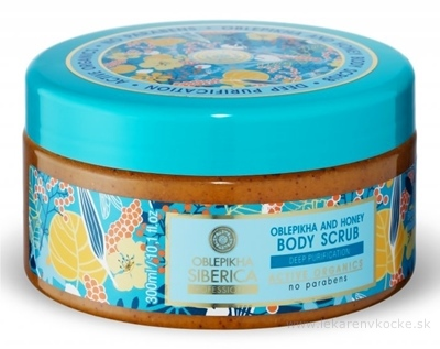 NATURA SIBERICA OBLEPIKHA AND HONEY Body scrub telový peeling rakytníkovo – medový 1x300 ml