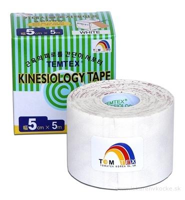 TEMTEX KINESOLOGY TAPE tejpovacia páska, 5 cm x 5 m, biela 1x1 ks