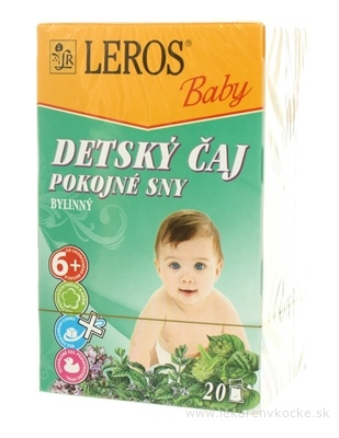 LEROS BABY DETSKÝ ČAJ POKOJNÉ SNY 20x1,5 g (30 g)