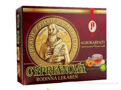 AGROKARPATY kazeta CYPRIÁN RODINNÁ LEKÁREŇ bylinný čaj 90x1,5 g (135 g)