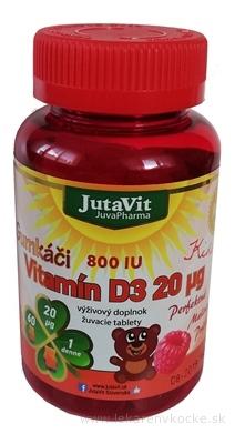 JutaVit Gumkáči Vitamín D3 20 µg Kids tbl (gumenné medvedíky) 1x60 ks