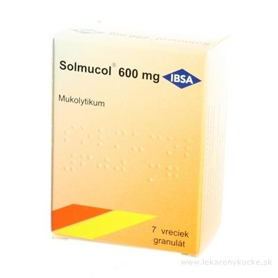 Solmucol 600 mg gra 1x7 vrecúšok