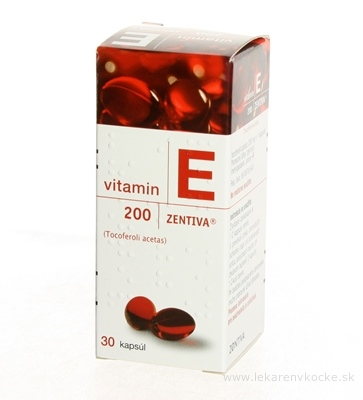 VITAMIN E 200-ZENTIVA cps mol 200 mg (fľ.skl.) 1x30 ks