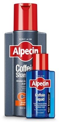 ALPECIN Coffein Shampoo C1 Promo Pack šampón 1x250 ml + Hair Energizer Liquid kofeínové tonikum 1x75 ml zadarmo, 1x1 set