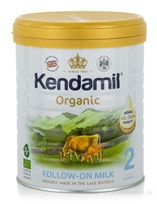 KENDAMIL 2 Organic, BIO následné dojčenské mlieko, s DHA (6 - 12 mesiacov) 1x800 g