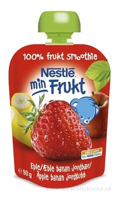 Nestlé min Frukt Jahoda Jablko Banán kapsička, ovocná desiata (od ukonč. 6. mesiaca) 1x90 g