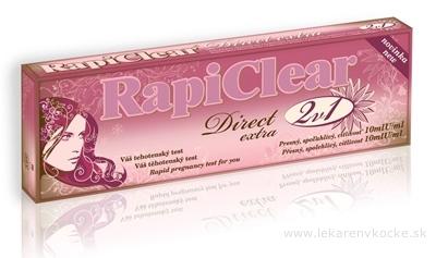 RapiClear Tehotenský test Direct extra 2v1 1x2 ks